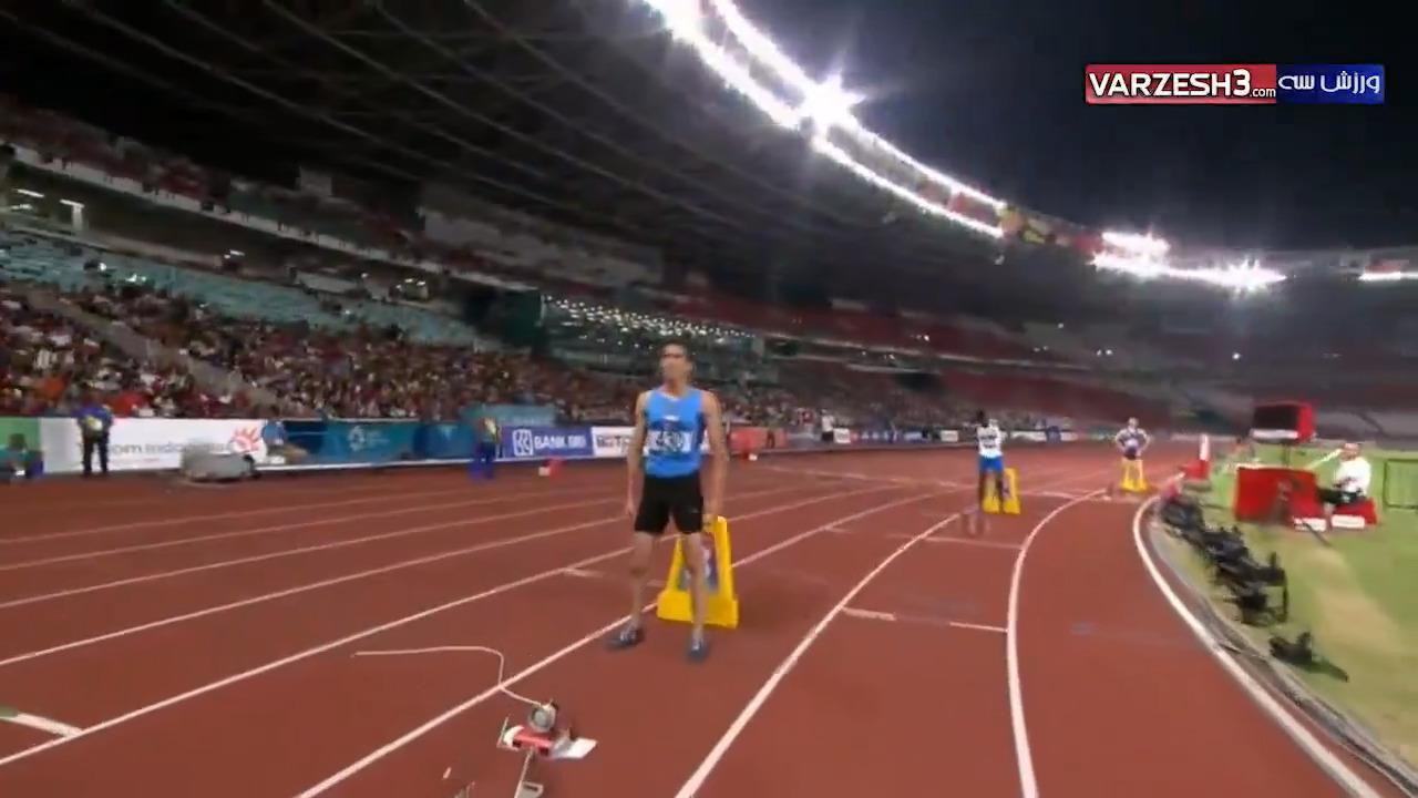 مسابقه 400 متر رضا ملک پور در نیمه نهایی