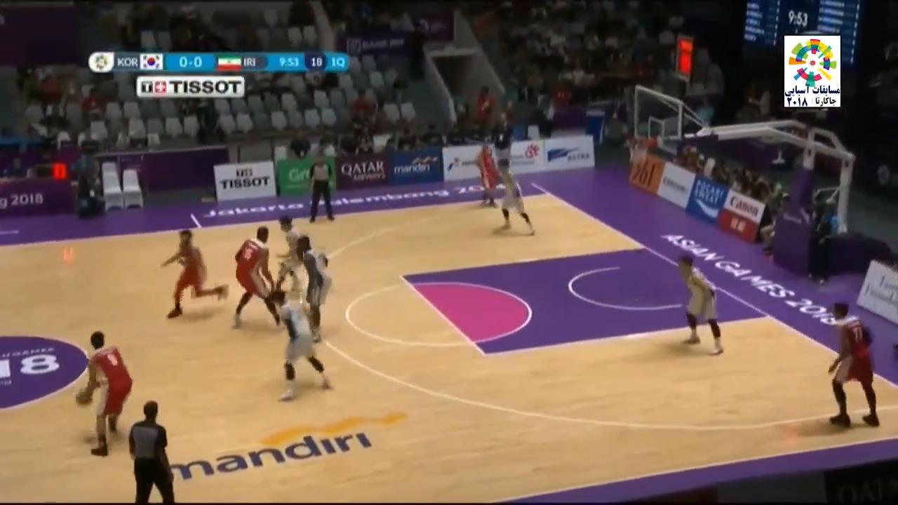 خلاصه بسکتبال ایران 80 - کره جنوبی 68