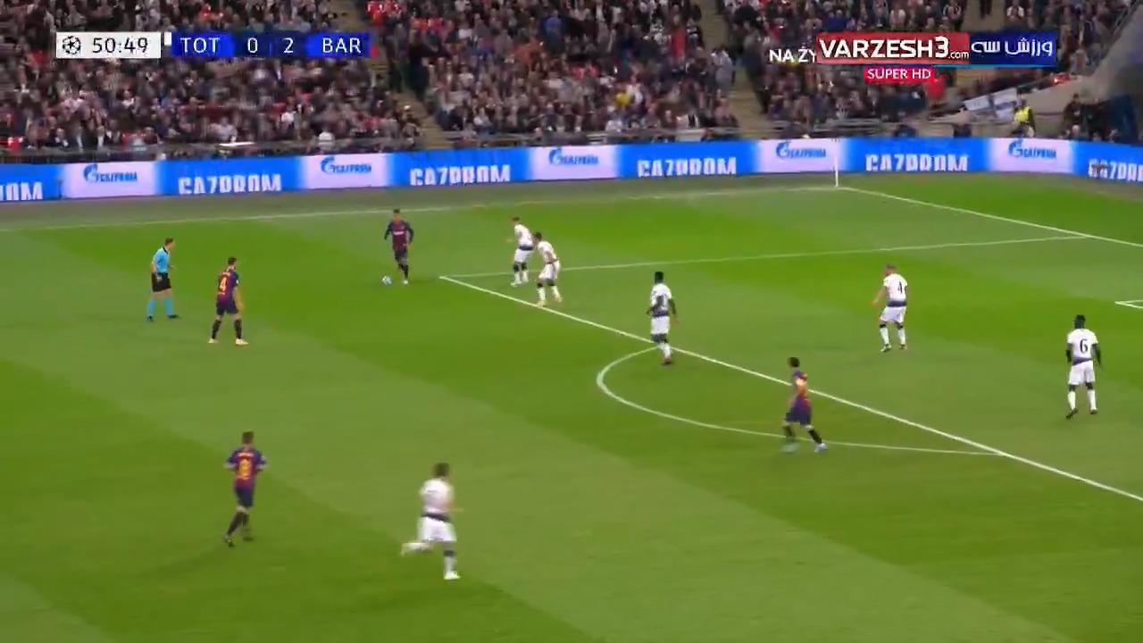 خلاصه بازی تاتنهام 2 - بارسلونا 4