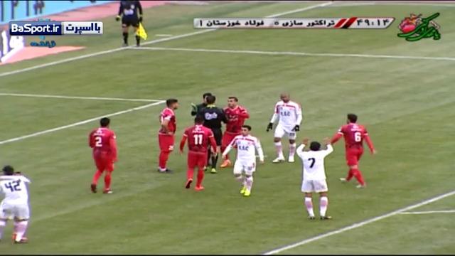 خلاصه بازی تراکتورسازی 1-2 فولاد خوزستان