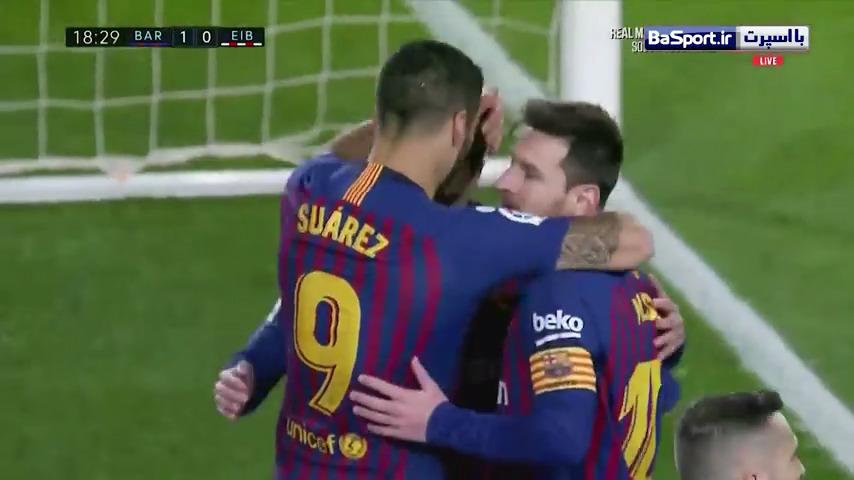 خلاصه بازی بارسلونا 3-0 ایبار